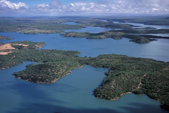 Lago da hidrelétrica de Xingó (AL) - Zig Koch / Banco de Imagens ANA