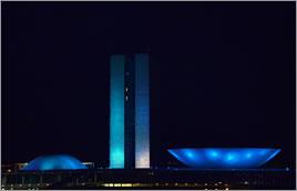 Congresso Nacional recebeu iluminação especial - Cláudia Dianni / Banco de Imagens ANA