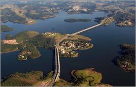 Represa Atibainha faz parte do Sistema Cantareira - Tomás May / Banco de Imagens ANA