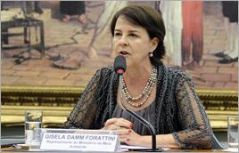 Diretora Gisela Forattini na audiência - Luis Macedo / Câmara dos Deputados