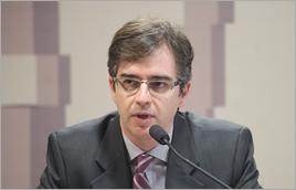 Carlos Motta, especialista da ANA, representou a Agência na audiência - Pedro França / Agência Senado